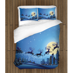 Коледно спално бельо със завивка Шейната на дядо Коледа - Santa's Sledge