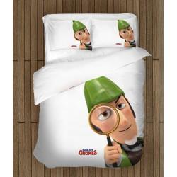Ефектен спален комплект за деца Шерлок Гномс - Sherlock Gnomes