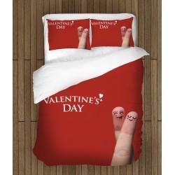 Романтично спално бельо Щастлив свети Валентин - Happy Valentine Day