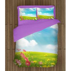 3D Чаршафи със завивка Слънчева поляна - Sunny Lawn