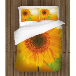Спален олекотен комплект със завивка Слънчоглед - Sunflower