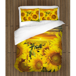 Спално бельо 3D със завивка Слънчогледи - Sunflowers