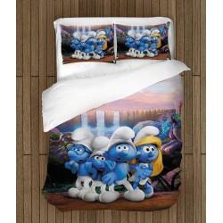 Фенски детски спален комплект Смърфовете - Smurfs