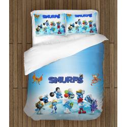 Детско спално бельо със завивка Смърфовете - The Smurfs