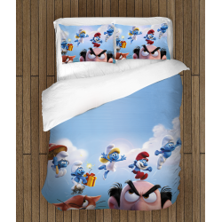 Комплект спално бельо със завивка Смърфовете - The Smurfs The Movie