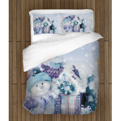 Коледно спално бельо Снежен човек - Snowman