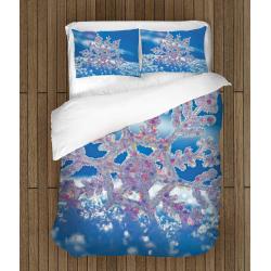 Коледно спално бельо със завивка Снежинка - Snowflake