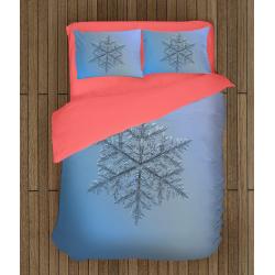 Зимен комплект спално бельо със завивка Снежинка - Snowflake