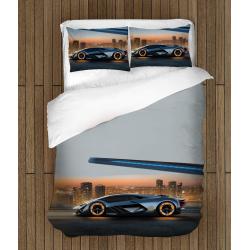 Комплект спално бельо със завивка с Ламборджини - Lambourghini