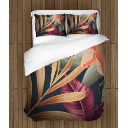 Спално бельо със завивка 3D Стайни цветя - Room Flowers