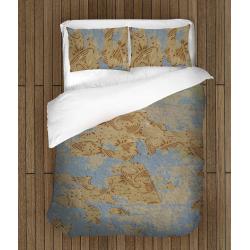 Комплект спално бельо със завивка Стари тапети - Old Wall-paper