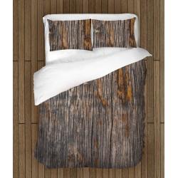 Спален комплект с олекотена завивка 3D Старинно дърво - Old Wood