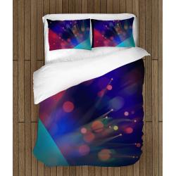 Стилно 3Д спално бельо Цветове - Fresh