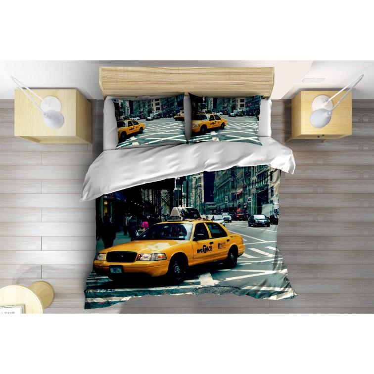 Спално бельо 3D Такси в Ню Йорк - Taxi in New York
