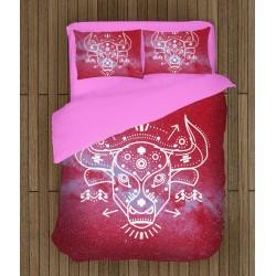 3D арт спално бельо зодия Телец - Taurus