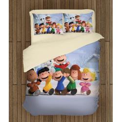 Детски 3D спален комплект с олекотена завивка Фъстъчета: филмът - The Peanuts