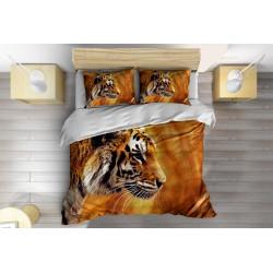 Спален комплект със завивка Тигър нащрек - A Tiger on the Alert