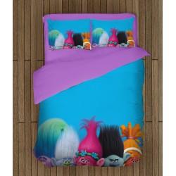 Ефектен спален комплект за деца Тролчета - Trolls