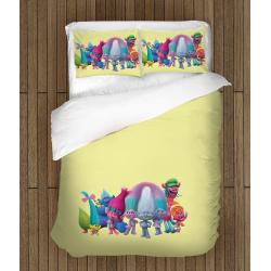 Спално бельо със завивка Тролчета - Trolls Animation