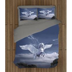 Впечатляващ спален комплект Еднорог в небето - Unicorn in the Sky
