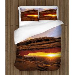 Романтични чаршафи със завивка Изгрев в планината - Mountain Sunrise