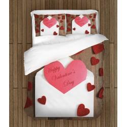 Комплект чаршафи за влюбени Валентинка - Valentine's Day Card