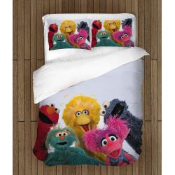 Комплект спално бельо със завивка Улица Сезам - Sesame Street
