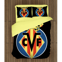 Футболно спално бельо със завивка 3D Вилареал - Villarreal
