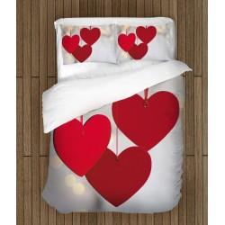 Спално бельо за свети Валентин Висящи сърчица - Hanging Hearts
