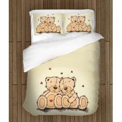Роматично спално бельо Влюбени мечета - Teddy Bears in Love