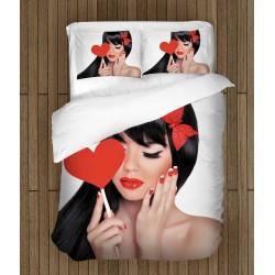 Романтични чаршафи за легло Влюбено момиче - Girl In Love