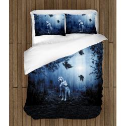 Спално бельо със завивка Вълци - Wolves In A Forest