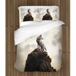 Спално бельо със завивка Вълк на скала - Wolf On a Rock
