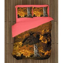 Спално бельо Вълк през есента - Wolf in the autumn