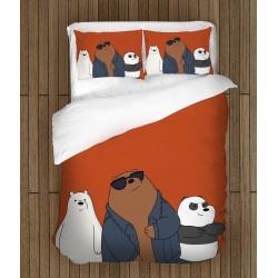 Детски спален комплект Ние мечоците - We Bare Bears Dark