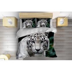 3D спален комплект Бял тигър - White Tiger