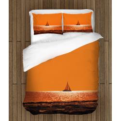 Романтично Спално бельо със завивка Лодка по залез - Sunset Boat