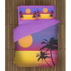 Романтични 3Д чаршафи Залез на морето - Sunset On The Sea