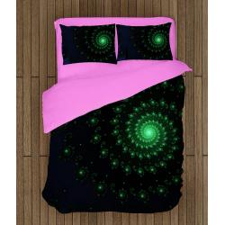 Спално бельо със завивка 3D Зелена спирала - Green Spiral