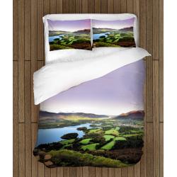 Романтично Спално бельо със завивка 3D Езеро - Lake In England
