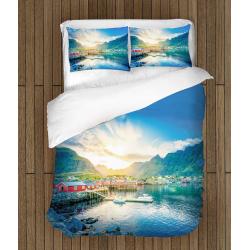 Спално бельо със завивка Планини в Норвегия - Mountain In Norway