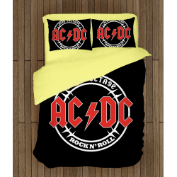 Рокерско спално бельо AC/DC Rock n' Roll