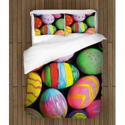 Празничен спален комплект Цветни великденски яйца - Colorful Easter Eggs