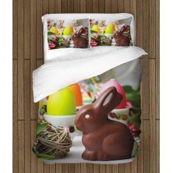 Великденски спален комплект Шоколадово зайче - Chocolate Bunny