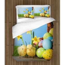 Празничен спален комплект Великденски пиленца - Easter Chicks
