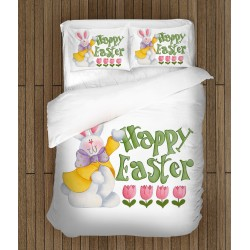 Спално бельо със заек Честит Великден - Rabbit Happy Easter